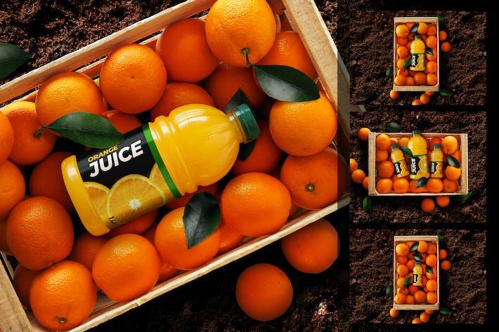 Thumbnail for Orangensaft Flasche Mockup