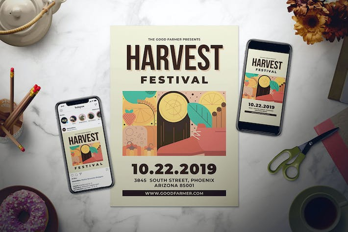 Thumbnail for Harvest Festival Flyer Set