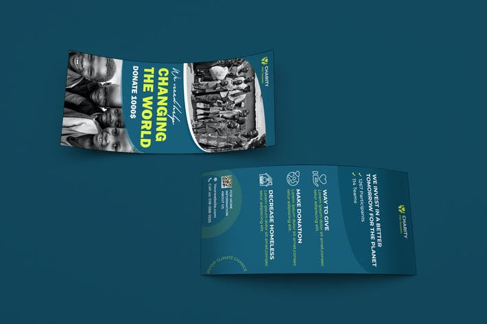 Thumbnail for Charity, NGO, Non-Profit DL Rackcard PSD Template