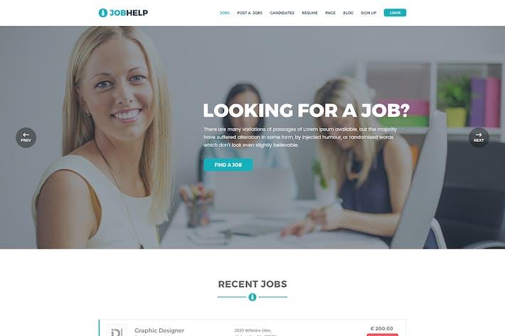 Thumbnail for Jobhelp - Работа доска PSD Шаблон