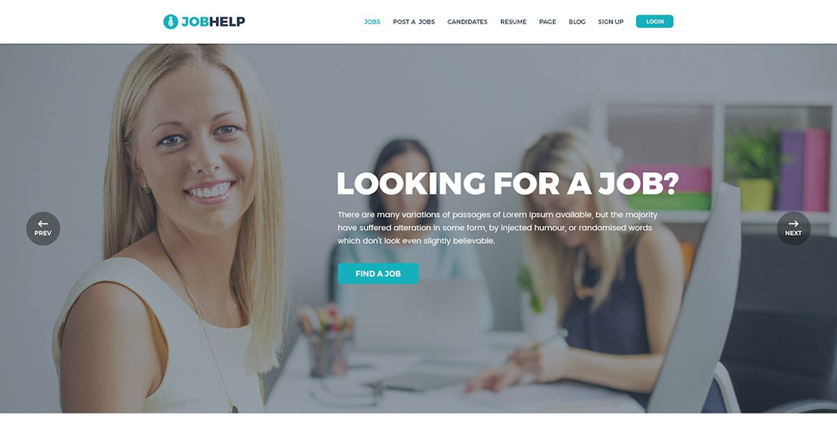 Download Jobhelp - Job Board PSD Template by codecarnival