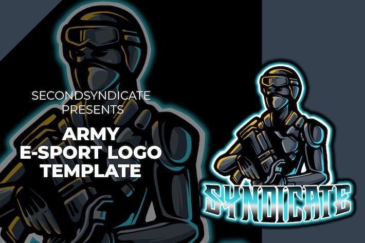 Thumbnail for Army E-sport Logo Template
