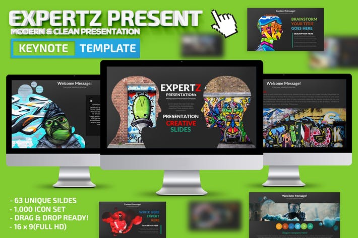 Thumbnail for Expertz Keynote Presentation Template