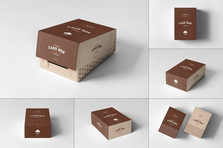 Thumbnail for Cake Box Mock-up