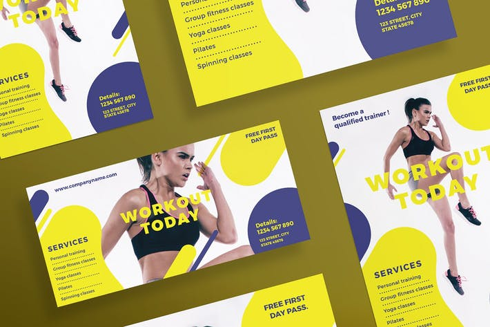 Thumbnail for Gym Workout Flyer and Poster Template
