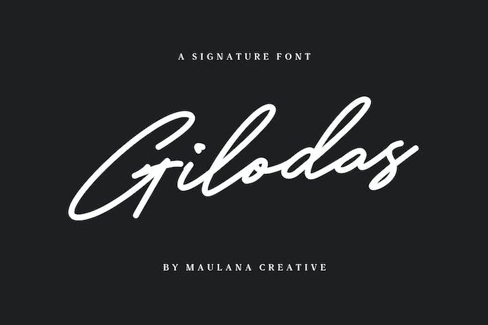 Thumbnail for Gilodas Signature Font