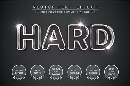 Hard Metal - editable text effect, font style