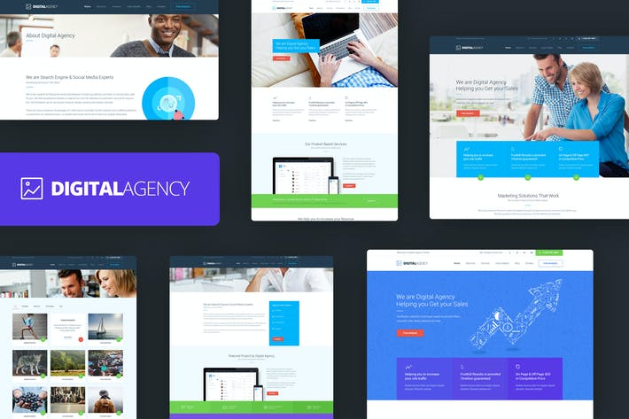 Thumbnail for Digital Agency - SEO / Marketing HTML Template