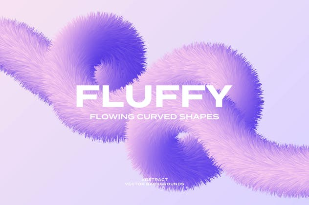 Fluffy Curved Shapes Vector Backgrounds