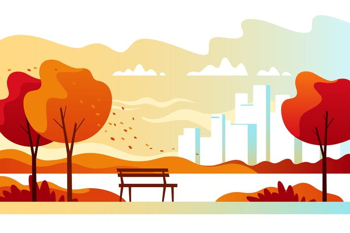 Cover Image For Autumn City Park