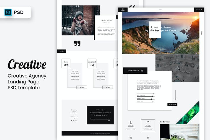 Thumbnail for Creative Agency - Landing Page PSD Template-02
