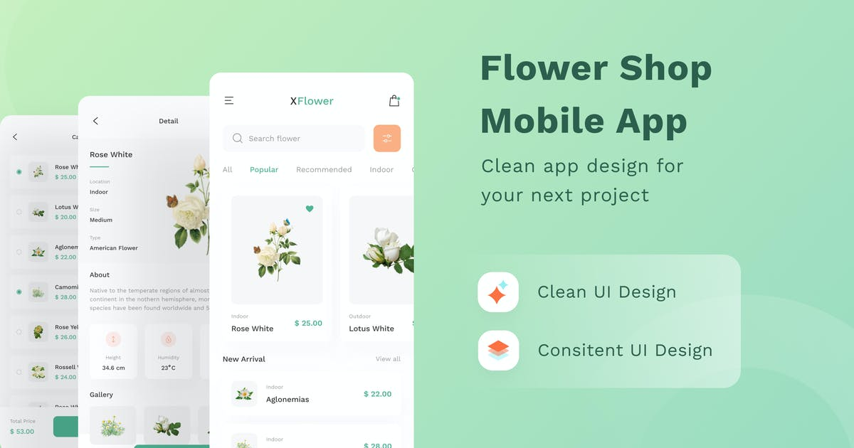 Download Flower Shop Mobile App by DimoGraphic