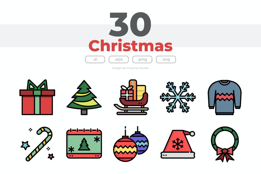 30 WeihnachtsIcons
