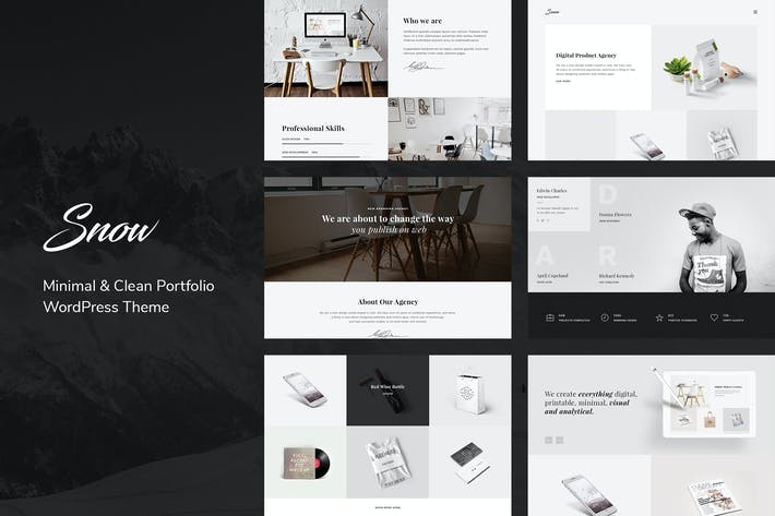 Thumbnail for Snow | Minimal & Clean WordPress Portfolio Theme