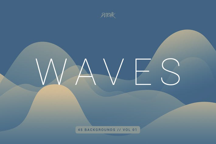 Thumbnail for Waves | Smooth Colorful Backgrounds | Vol. 01