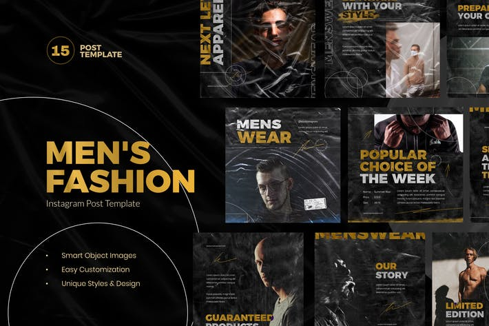 Thumbnail for Men Fashion Instagram Post Template