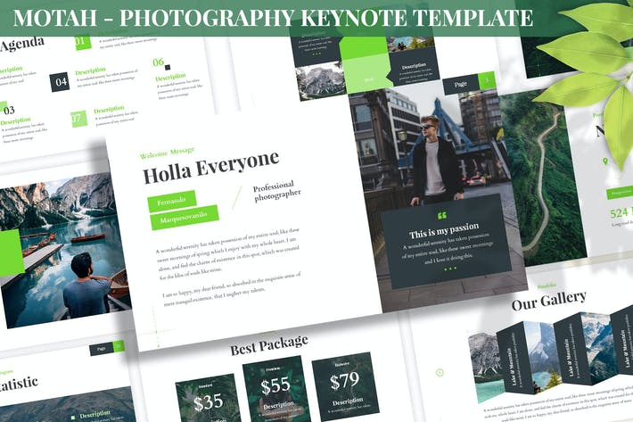 Thumbnail for Motah - Photography Keynote Template