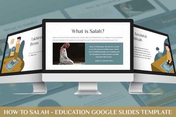 Thumbnail for How to Salah - Education Google Slides Template