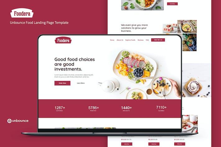 Foodera — Modèle de page de destination des aliments Unbounce