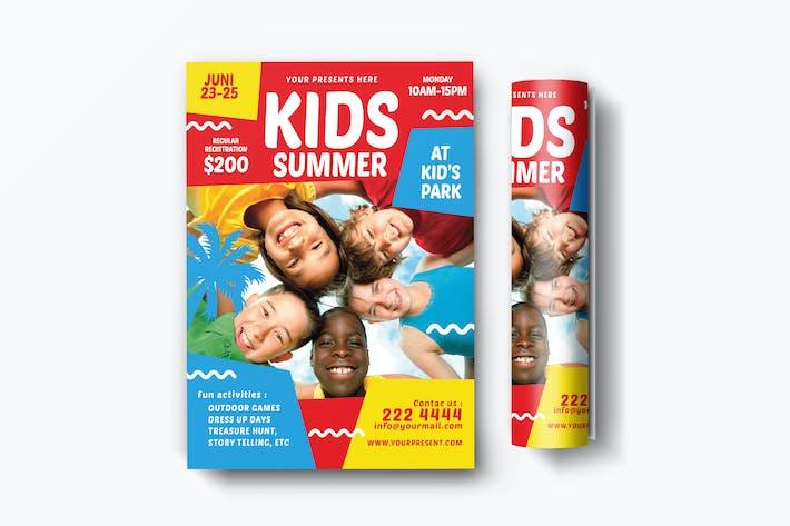 Cover Image For Folleto de verano para Niños
