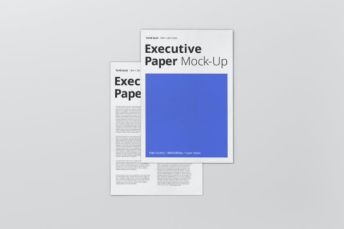 Thumbnail for Executive Paper Mockup - 7x10
