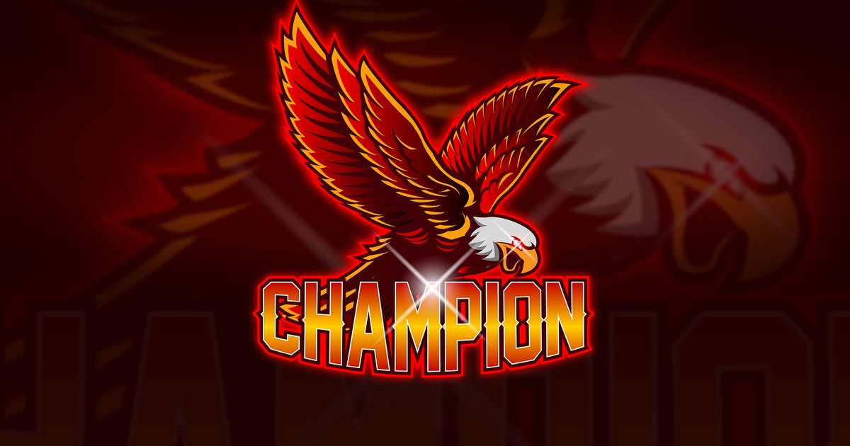 Download Eagle Champion - Mascot & Esport Logo by aqrstudio