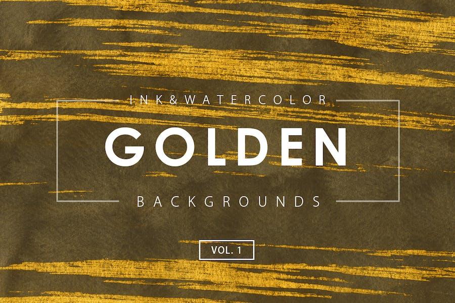 Golden Ink Backgrounds 1