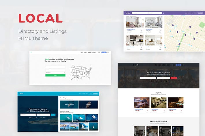 Thumbnail for Multipurpose Directory Listing  HTML Theme | Local
