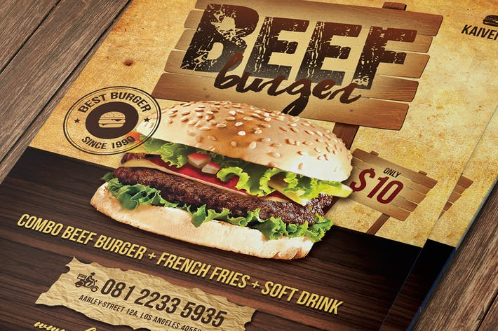 Thumbnail for Food Menu Flyer