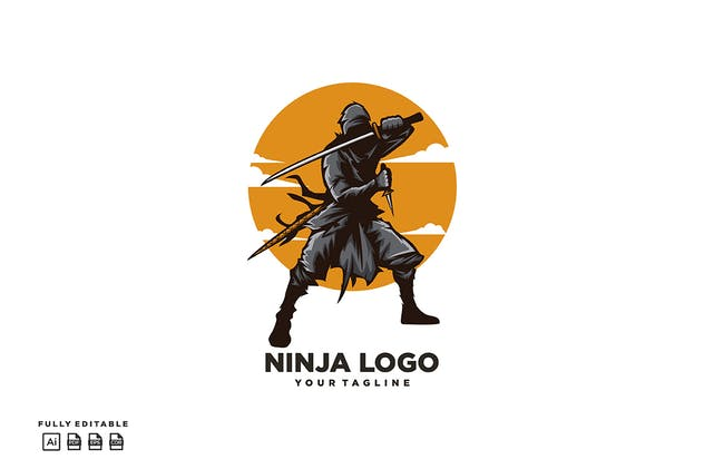 Ninja Katana Logo