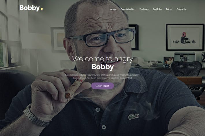 Thumbnail for Bobby - Personal HTML Template