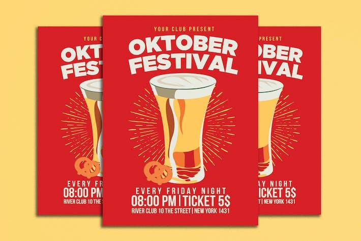 Thumbnail for Oktober Fest Flyer Vintage Style