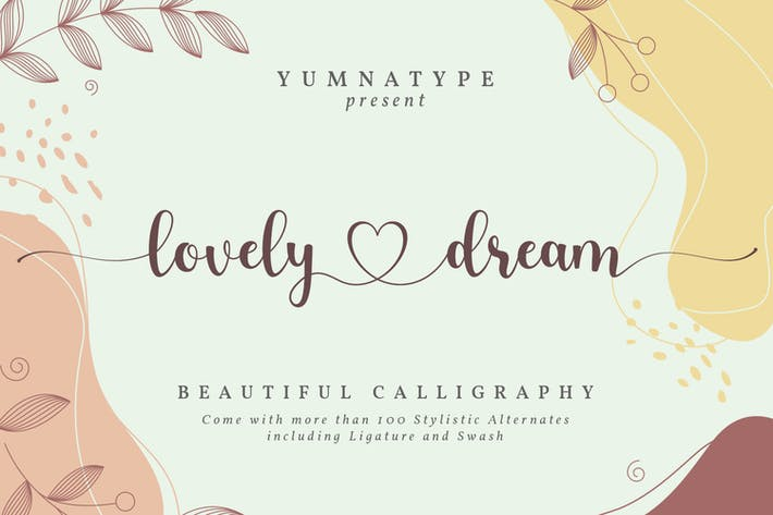 Thumbnail for Lovely Dream-Beautiful Caligraphy Font
