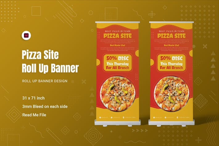 Pizza Site Roll Up Banner