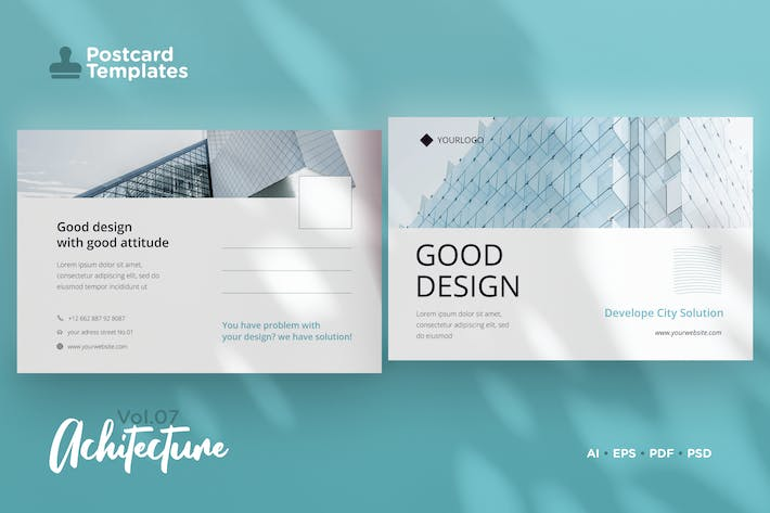 Thumbnail for Postcard Template Vol.07 Architecture
