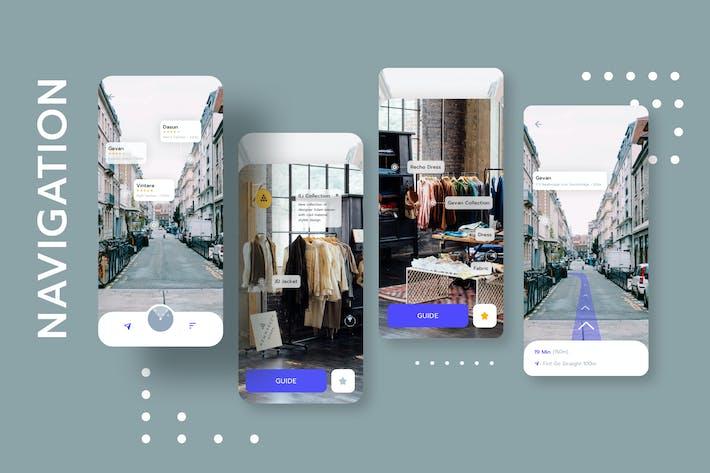 Vêtements de magasinage avec Navigation Mobile UI - FV