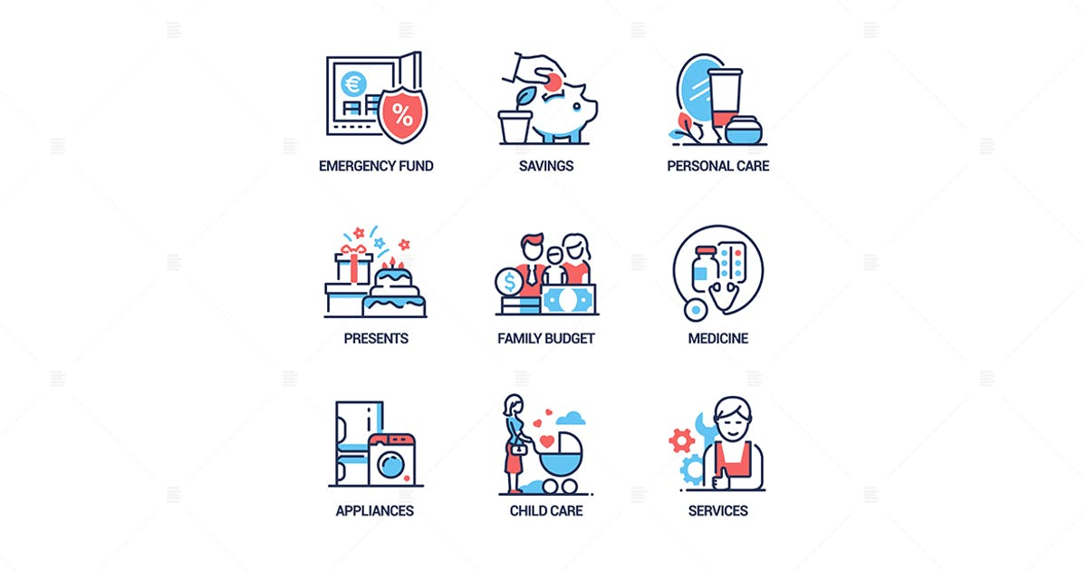 Download Budget - line design style icons set by BoykoPictures