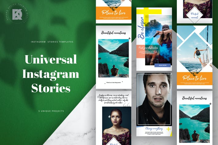 Thumbnail for Instagram Stories Universal Pack