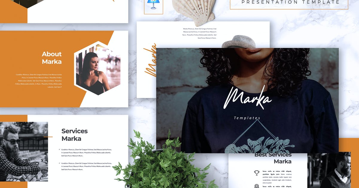 Download MARKA - Company Powerpoint/Google Slide/Keynote by RahardiCreative