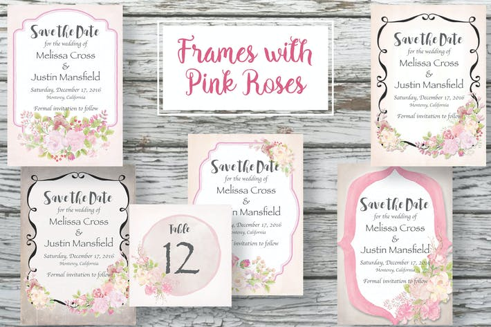 Thumbnail for Frames with Pink Roses