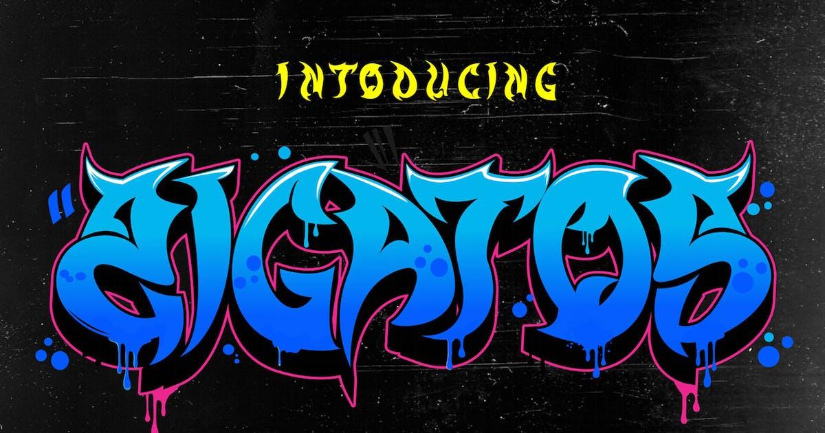Download Zigatos - Strong Graffiti Font by figuree