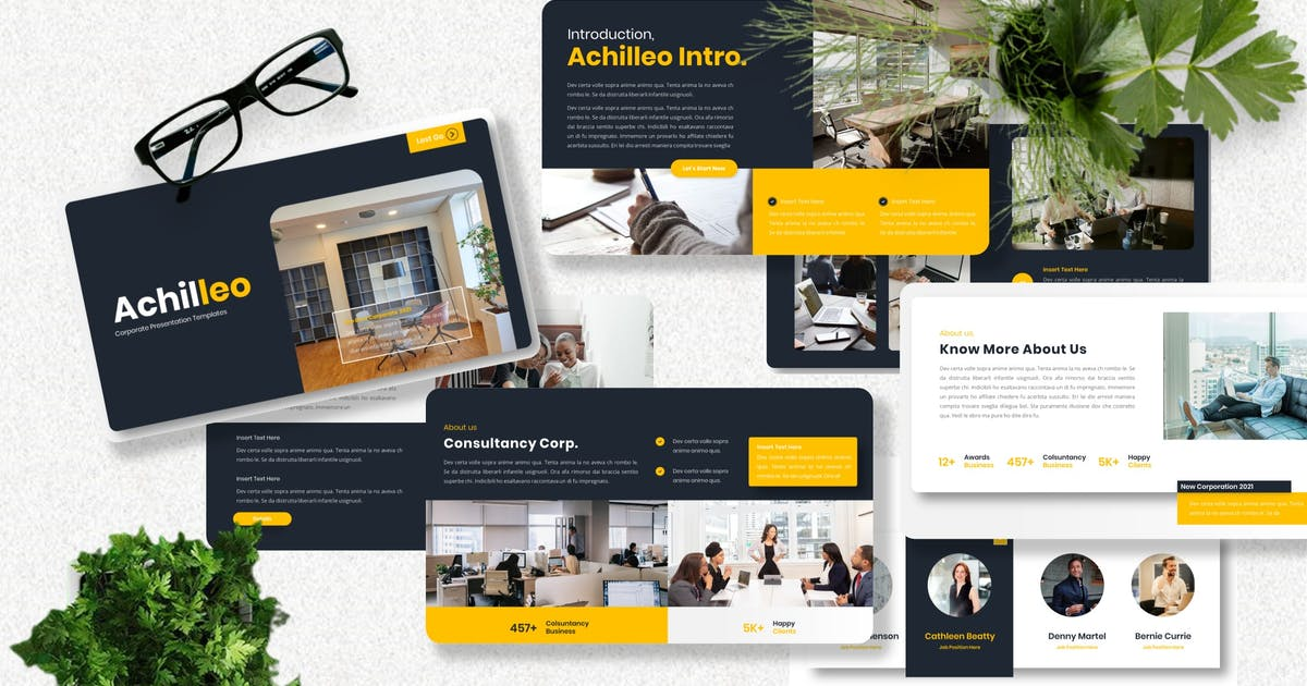 Download Achilleo - Corporate Powerpoint Template by Yumnacreative