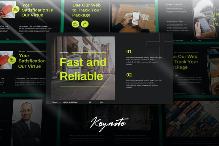 Thumbnail for Factum - ecommerce keynote template