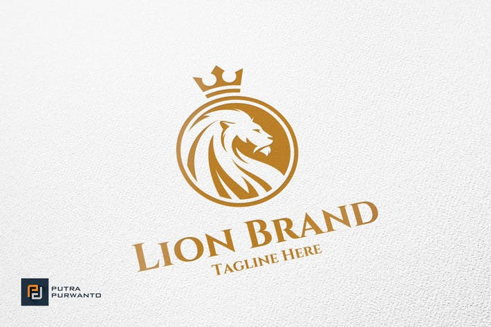 Cover Image For Lion Brand - Logo Template