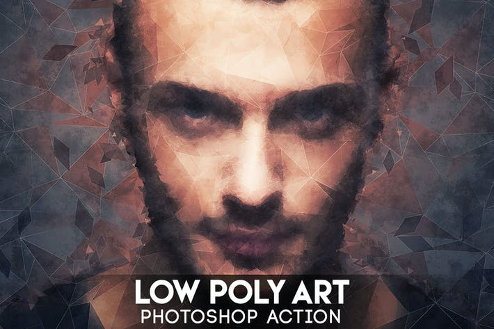 Cover Image For Low Poly Art Photoshop Action