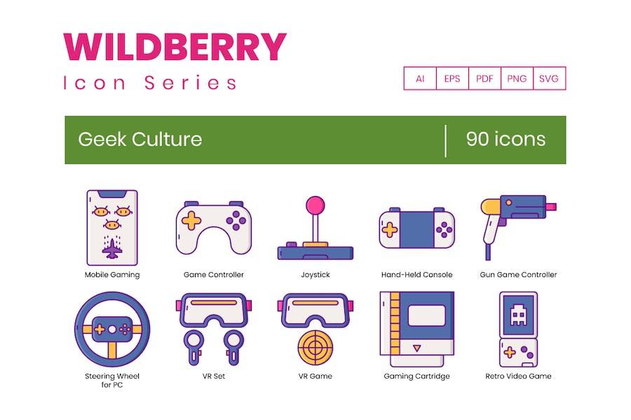90 Geek-Kultur-Symbole - Wildberry-Serie