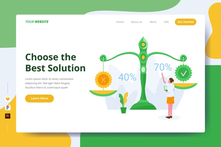 Choose the Best Solution - Landing Page