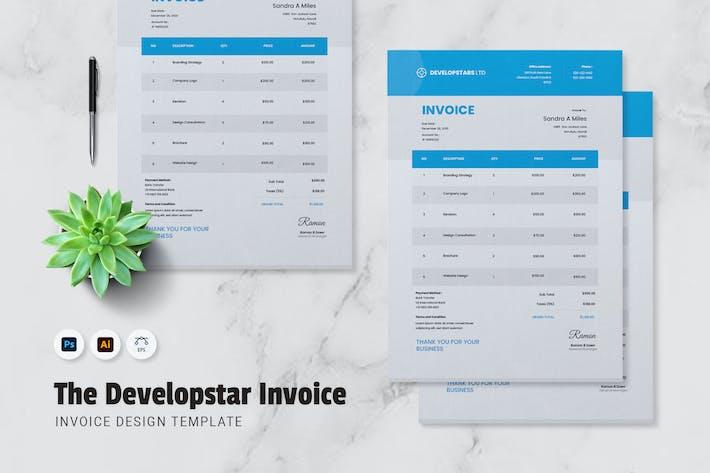 Thumbnail for Developstar Invoice