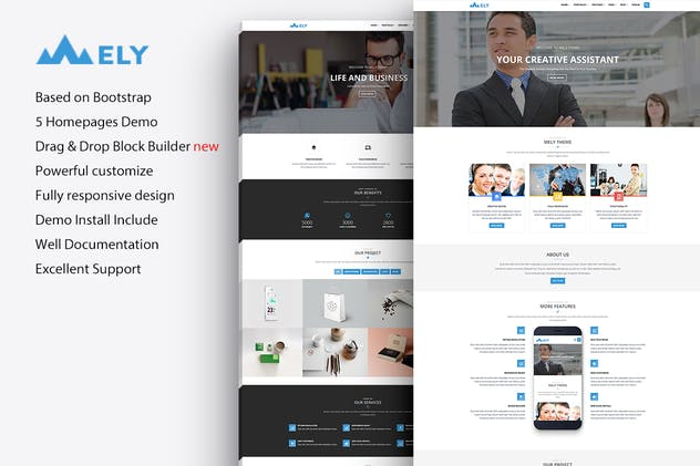 Mely - Responsive Business Drupal 7 Theme