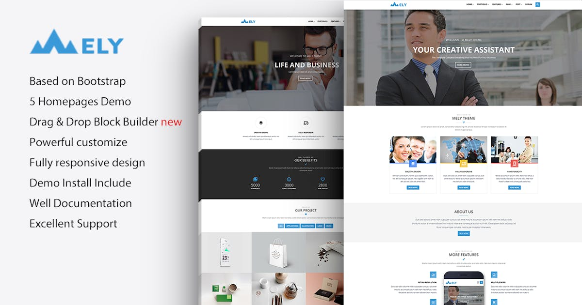 Download Mely - Responsive Business Drupal 7 Theme by gavias